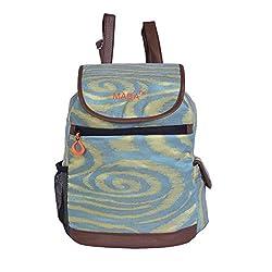 MABA Backpack Handbags for Women/Girls Green Colour