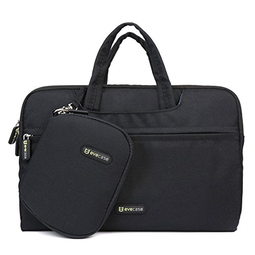 Evecase 11.6 - 12 Inch Dual Layer Padded Protection Tablet /Laptop Universal Sleeve Bag Carrying Case Briefcase With Handle + Pouch Case And Mouse Pad - Black