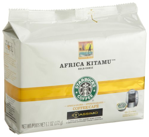 Starbucks Africa Kitamu Coffee (Bold), 12-Count T-Discs For Tassimo Coffeemakers (Pack Of 2)
