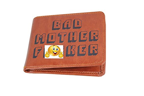 Pulp Fiction Bmf Bad Mother F*cker Brown Leather Wallet