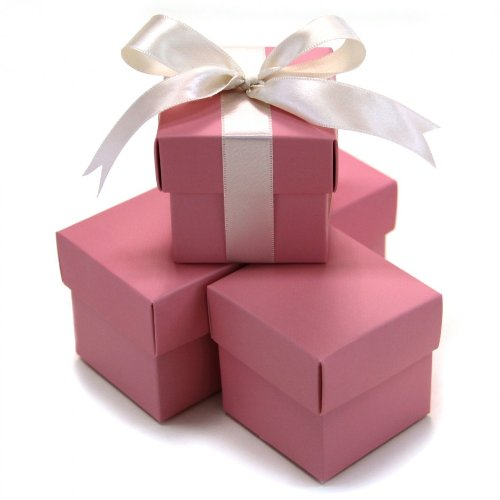 Koyal 2-Piece 10-Pack Square Favor Boxes, Pink (Pink Gift Boxes compare prices)