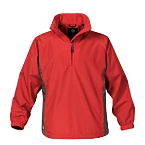 Stormtech Women's Micro Light Windshirt, Red/Granite, XX-Large