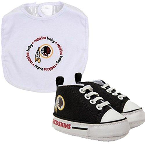 Washington Redskins NFL Infant Bib and Shoe Gift Set Shoe Bookends