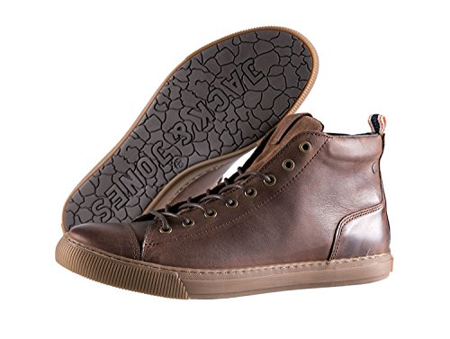 JACK JONES - Scarpe da uomo duran leather high sneaker 41 marrone