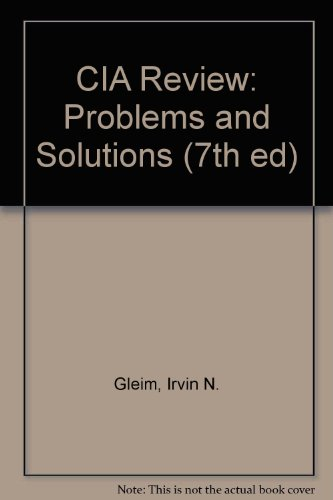 CIA Review: Problems and Solutions (7th ed)