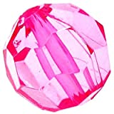 412mbgIfkKL. SL160  Fuchsia Faceted translucent acrylic plastic beads. (20 pcs). 16mm (5/8). 2mm hole. We have more items in stock. Larger quantities at better prices. Be sure to bookmark us. Thanks for shopping USBEADERY online!!  Reviews