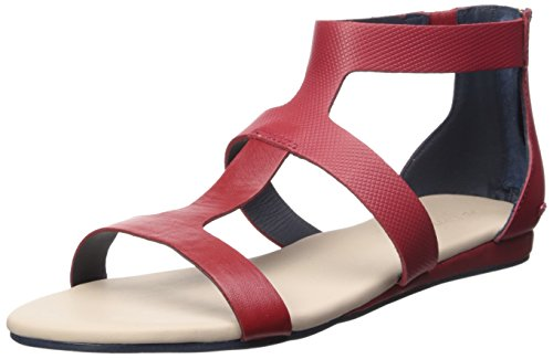 Lacoste Women's Atalaye 116 1 Gladiator Sandal, Dark Red, 8 M US