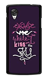 "Humor Gang Jimi Hendrix Quote - Excuse Me While I Kiss The Sky Printed Designer Mobile Back Cover For ""Lg Google Nexus 5"" (3D, Glossy, Premium Quality Snap On Case)"