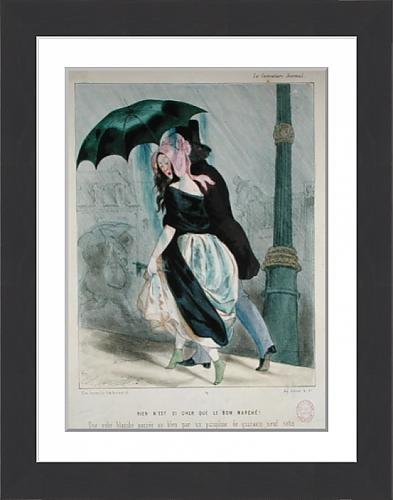 framed-print-of-there-is-nothing-as-expensive-as-le-bon-marche-colour-litho