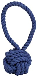 Harry Barker Rope Tug and Toss Toy - Large - Blue