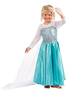 Girls Snow Queen Costume Snow Princess Dress up (2yr - 10yr)