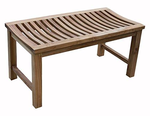36 Solid Teak Indoor Outdoor Shower Bench Teak Patio Furniture World