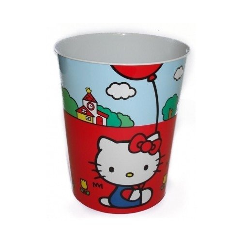 Hello kitty waste basket bin garbage can tricycle and for Blue bathroom bin