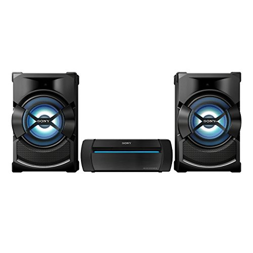 Sony-SHAKE-X1-Party-Soundsystem-Multicolor-Partybeleuchtung-Bluetooth-NFC-CDDVD-USB-geeignet-fr-FMAM-Radio-USB-Recording-Mic-In-fr-Karaoke-SongPal-DSEE-Sound-Pressure-Horn