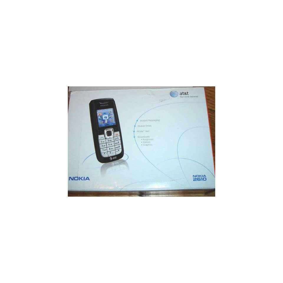 New AT&T Nokia 2610 Cell Phone GSM Speaker Phone