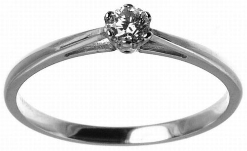 9ct White Gold Ladies 15pt Diamond Solitaire Ring