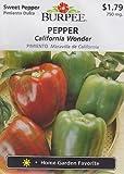 Burpee California Wonder Pepper - 100 Seeds