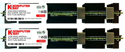 Komputerbay 4GB (2X2GB) DDR2 PC2-6400F 800MHz ECC Fully Buffered 2Rx4 FB-DIMM (240 PIN) w / Heatspreader für Apple MAC Computer