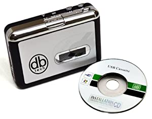 DBTech Audio USB Portable Cassette Tape-to-MP3 Player Adapter with USB Cable and Software Cd Also Features Auto Reverse - FOR PC