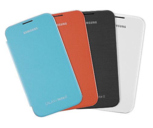 Samsung Galaxy Note 2 Flip Cover Case - 4-Pack Value Bundle (Marble White, Light Blue, Orange and Titanium Gray) (Galaxy Note 2 Flip Cover compare prices)