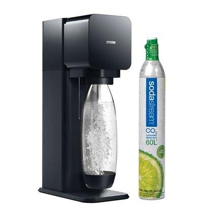 sodastream play sparkling water and soda maker starter kit with 60l co2 carbonator black. Black Bedroom Furniture Sets. Home Design Ideas