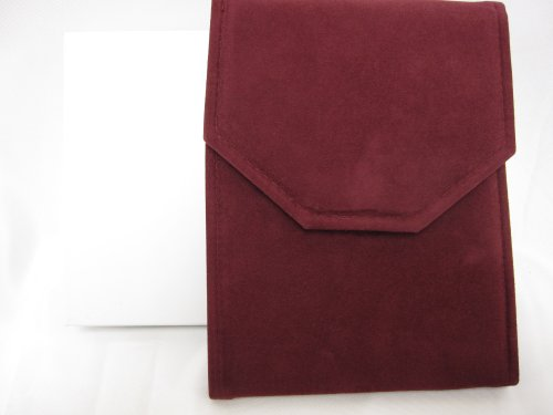 Burgundy Suede Pearl/Necklace Folder 7
