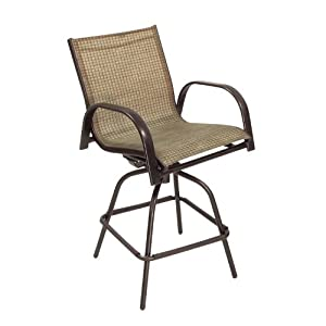 Living accents sling swivel bar stool for Living accents patio furniture