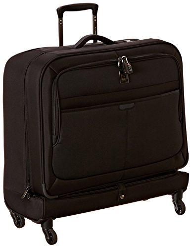 Delsey Luggage Helium Pilot 3.0 Spinner Trolley Garment Bag, Black, One Size (Garment Travel Bag On Wheels compare prices)