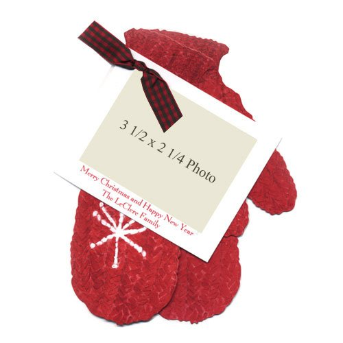 Mittens Die-Cut Card, Pack Of 10 front-948073