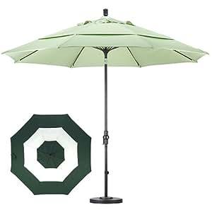 California Umbrella 11 39 Aluminum Patio Umbrella Fiberglass Ribs Middle Accent
