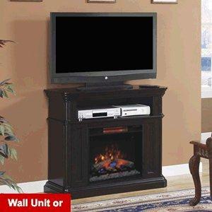 Classicflame Oakfield Wall/Corner Infrared Electric Fireplace Media Center In Espresso - 23De8202-E451