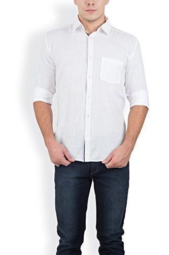 Blue Fire Men's Plain Full Sleeve Slim Fit Cotton Casual Shirt(BF005742)  available at amazon for Rs.299