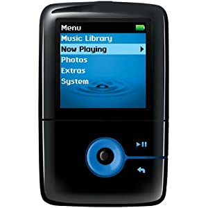 creative zen v 4gb mp3 player with colour screen black blue audio hifi. Black Bedroom Furniture Sets. Home Design Ideas