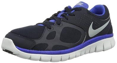 Nike Flex 2012 Ext 543825-402 Herren Laufschuhe Schwarz (Black/Blue/Grey/White 402) 41