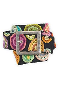 Tey-Art Circle Me Hand Embroidered Wool Belt
