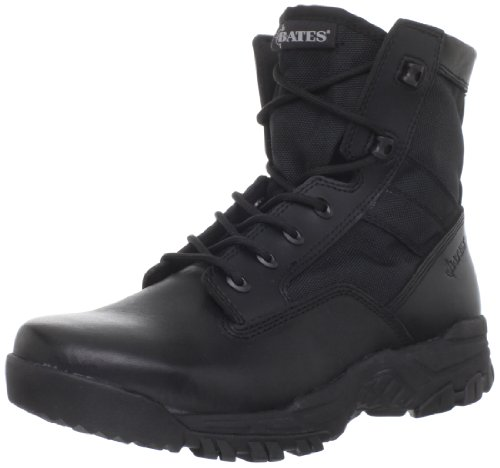 Men's Bates 6 inch Zero Mass Side - zip Boots Black, BLACK, 6M