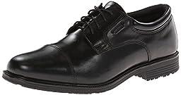 Rockport Men\'s Lead The Pack Cap Toe Oxford,Black Waterproof Leather,9 W US