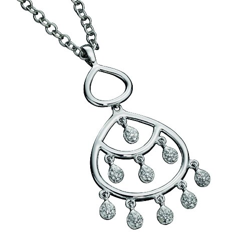 Fiorelli Costume Collection Ladies' N2902 Chandelier Style Pave Set Pendant on 65-70cm Chain adjustable