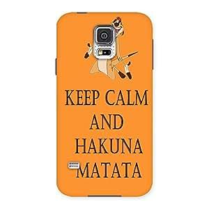 Impressive HKN MTT Orange Back Case Cover for Samsung Galaxy S5