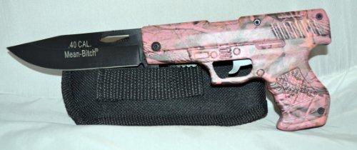 Mean Bitch .40 Cal. Pink Camo Knife