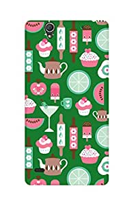 ZAPCASE Printed Back Case for SONY XPERIA C4