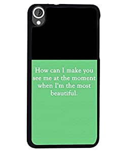 PRINTVISA Most Moment Premium Metallic Insert Back Case Cover for HTC Desired 820 - D5876