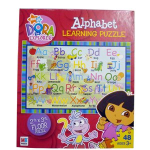 Picture of Hasbro Dora the Explorer Learning Floor Puzzle - Alphabet (B001DYRZRS) (Floor Puzzles)