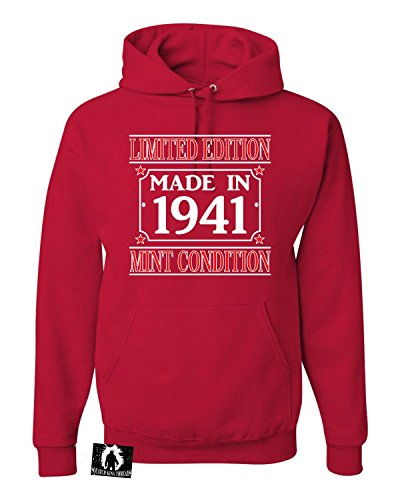 XXX-Large Red Adult Made In 1941 Limited Edition Mint Condition Sweatshirt Hoodie