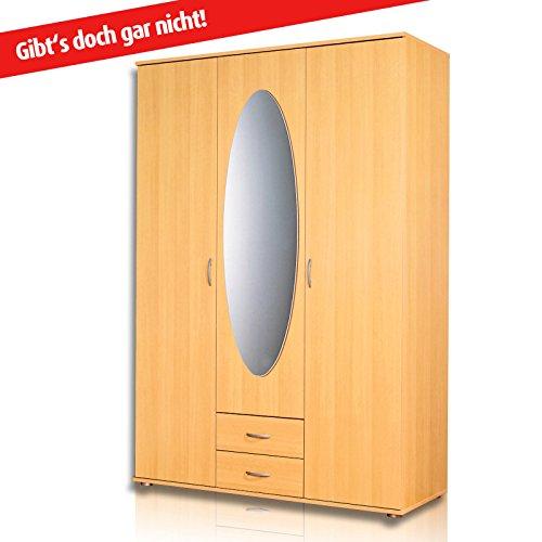 roller kleiderschrank twin buche 127 cm breit. Black Bedroom Furniture Sets. Home Design Ideas