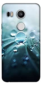 Snoogg Pure Dew Designer Protective Back Case Cover For Lg Google Nexus 5X