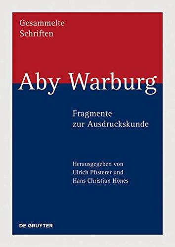 Aby Warburg Fragmente Zur Ausdruckskunde  (Tapa Dura)