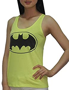 Womens DC COMICS BATMAN Crew-Neck Summer Sleeveless Shirt / Tank Top