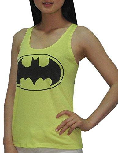 Womens DC COMICS BATMAN Crew-Neck Summer Sleeveless Shirt / Tank Top