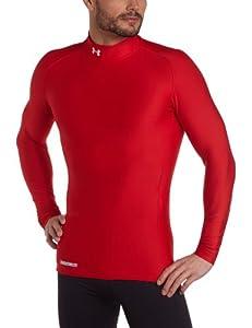 Under Armour Herren Shirt CG Compression Evo Mock, Red/White, M-600